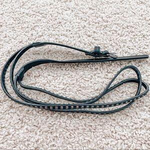 Forever 21 Thin Black Studded Belt